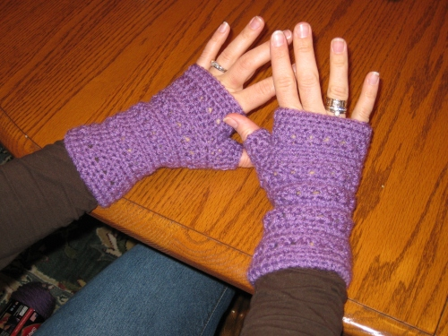 Wrist warmers: short wrist warmers -- $10, elbow length warmers -- $12. Please let me know your color preferences.