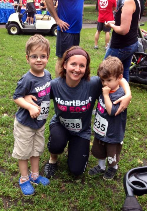 Megan and her boys, Elijah and Sammy. Elijah is a heart warrior. He rocks some awesome scars like Eli. :-)