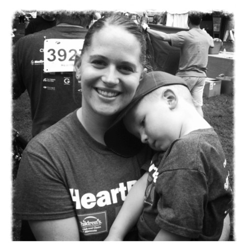 This is why I ran yesterday. I ran for my miracle baby!